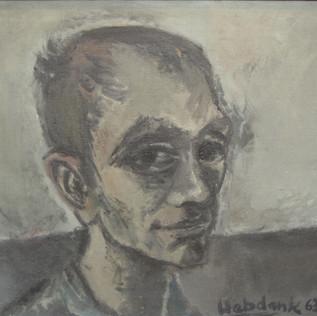 Selbstportrait  1963 Öl auf Leinwand
