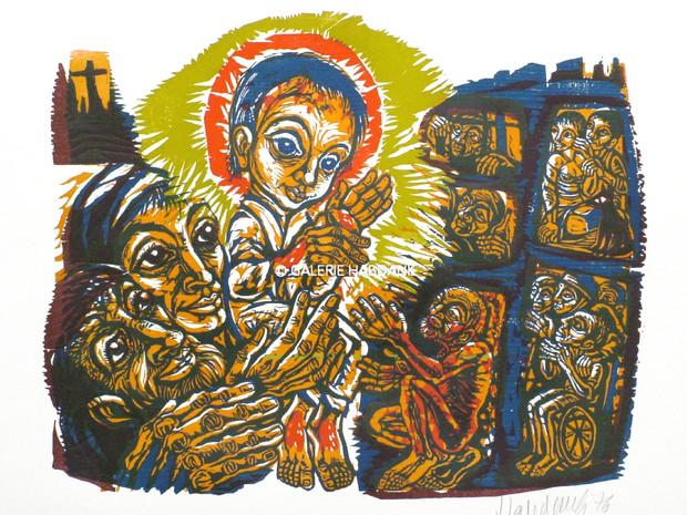 Licht in der Finsternis 1976 53 x 76 cm