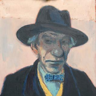 Portrait Anton Weiher 1952 Öl auf Leinwand