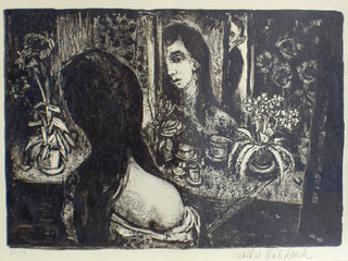 Vor dem Spiegel, I 1951 43,5 x 61 cm