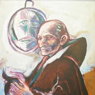 Portrait Leo Maillet 1972 Acryl auf Leinwand