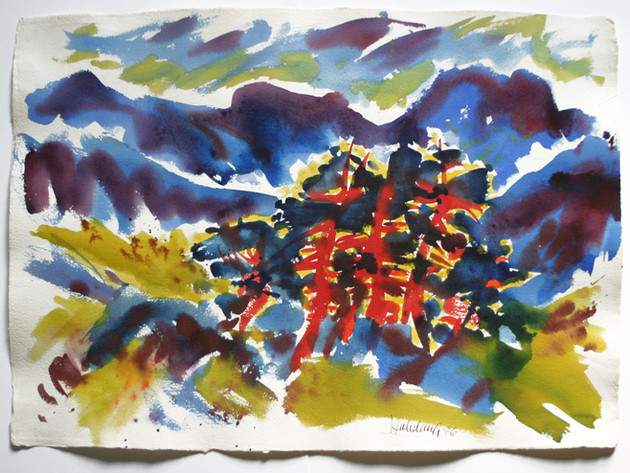 Maloja, Oberengadin 1986 57 x 78 cm
