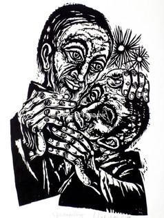 Blindenheilung Neufassung 1979 76 x 53 cm