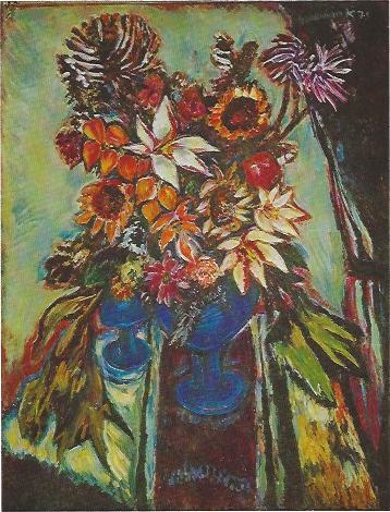 Großes Blumenbild, Acrylgemälde 1975