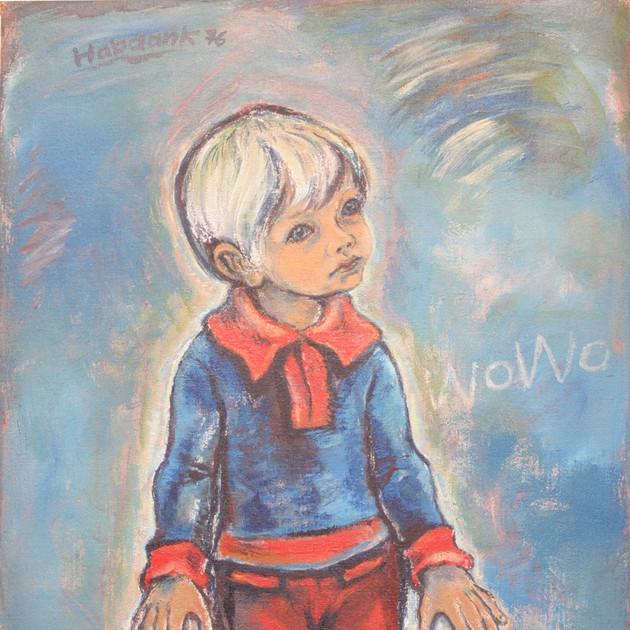 Portrait Wowo 1976 Acryl auf Leinwand