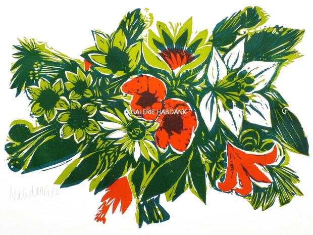 Blumen zu Psalm 65 1973 53 x 76 cm