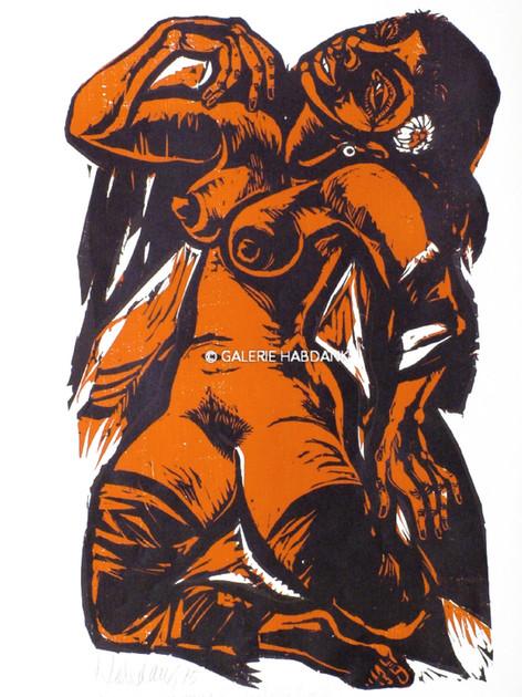 Liebestolle Frau 1975 76 x 53 cm