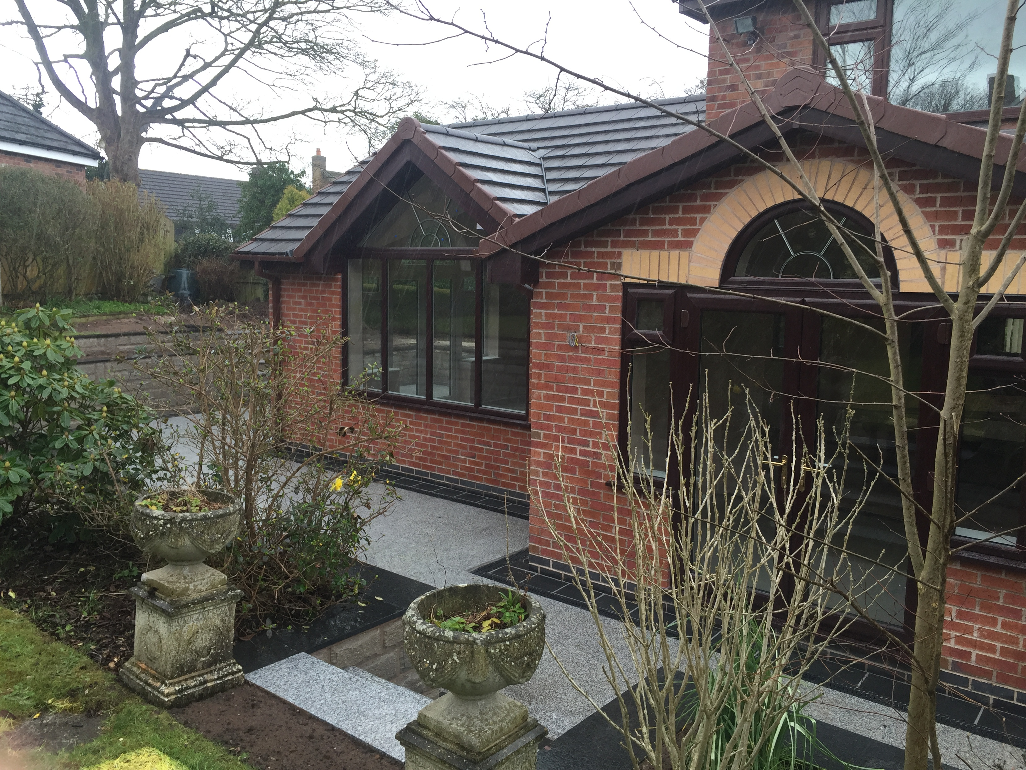 Orangery and Granite paving Cheshire