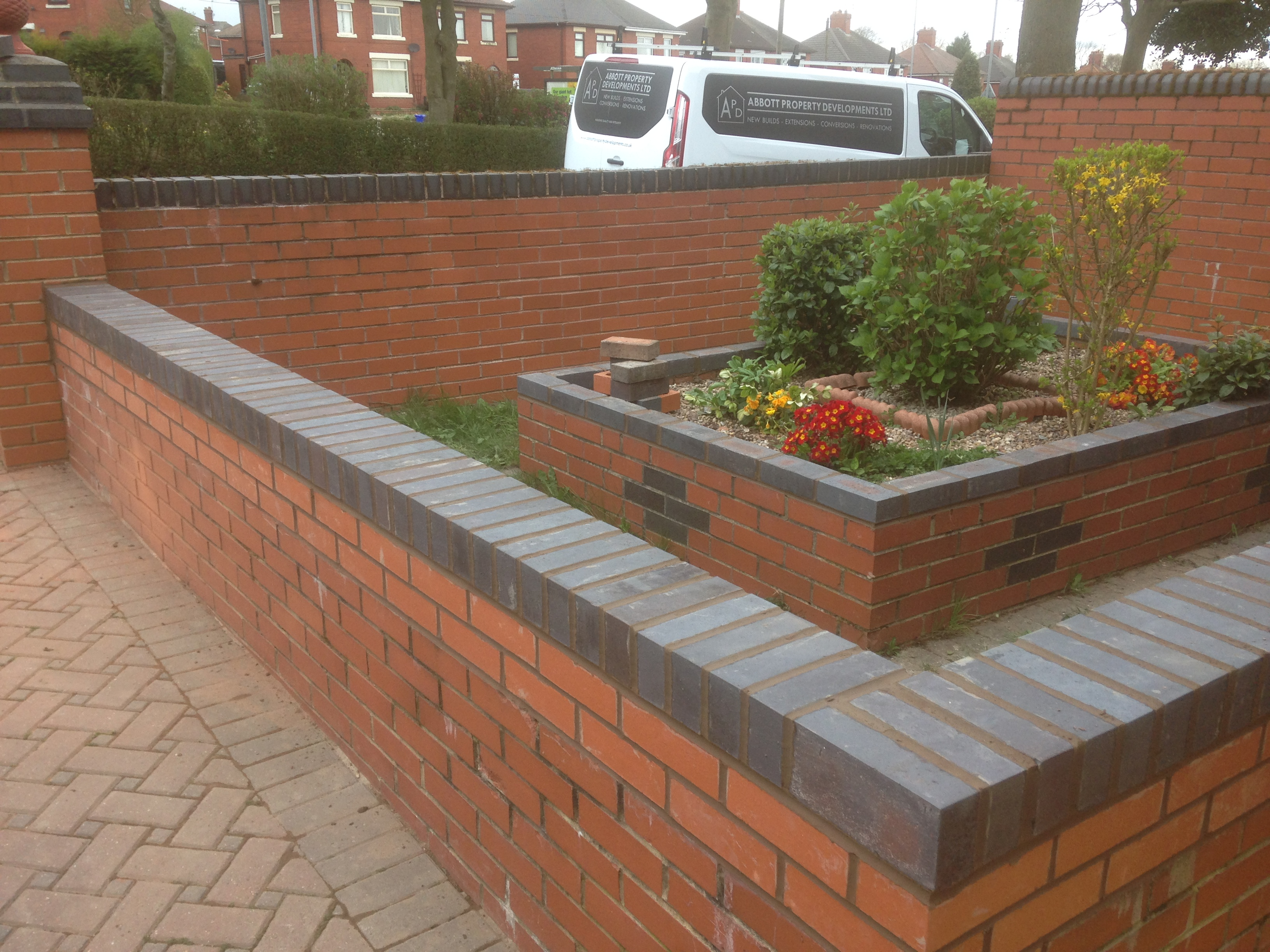 Garden brick wall, Stoke On Trent