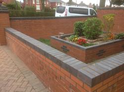 Garden brick wall, Stoke On Trent