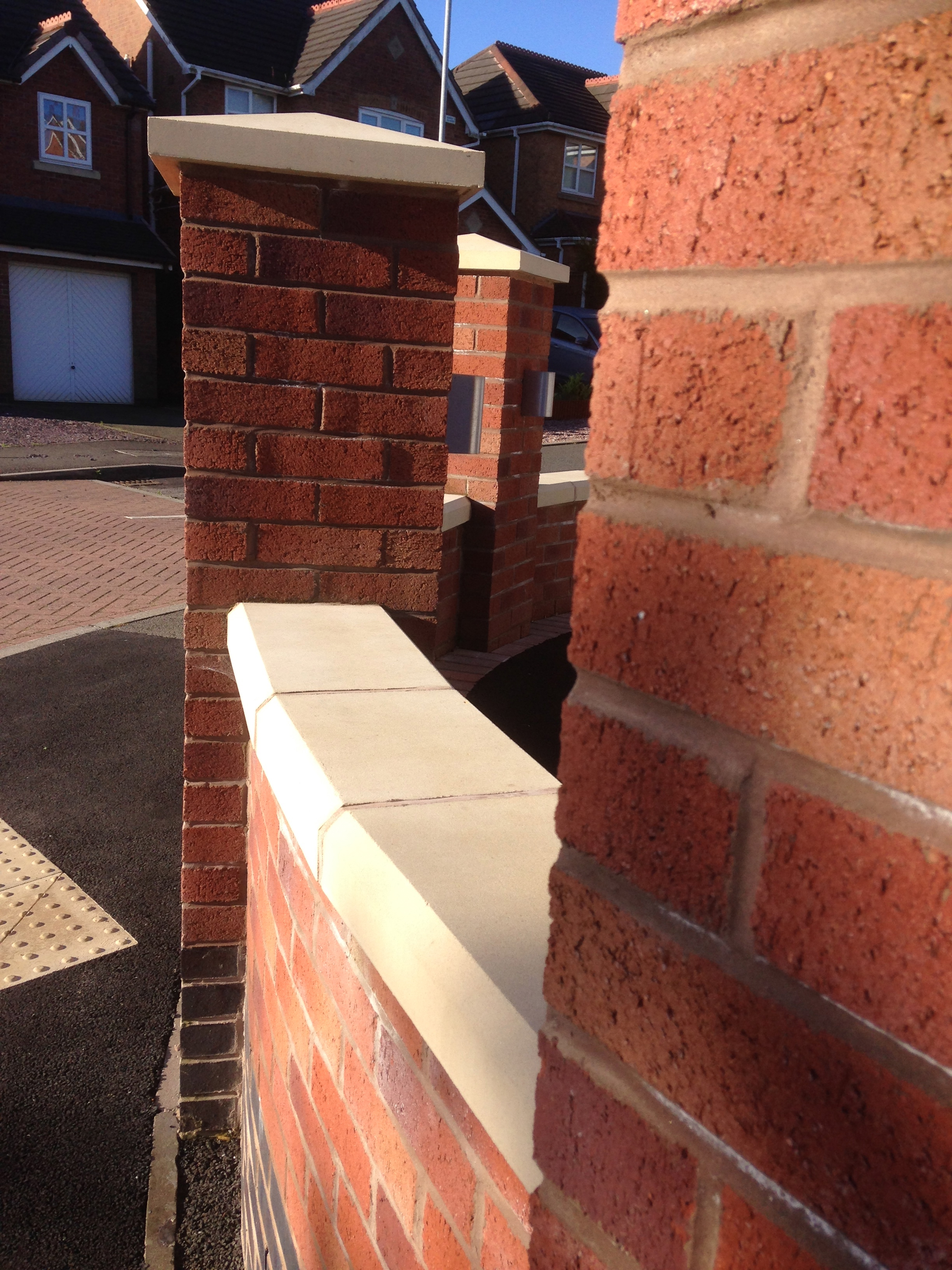 Garden brick wall, Knypersley
