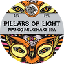 Pillars of light MANGO tap sign - keg.pn