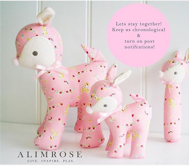 Deer Squeaker in Flora Pink by Alimrose