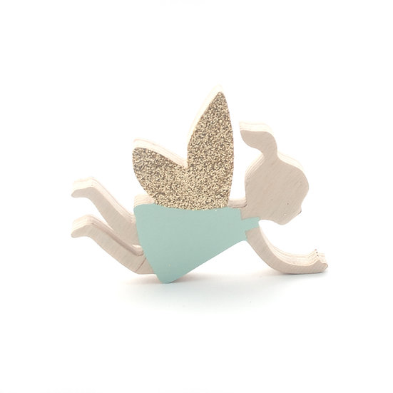 Flying Fairy Mint Wall Hook by The Wall Collective