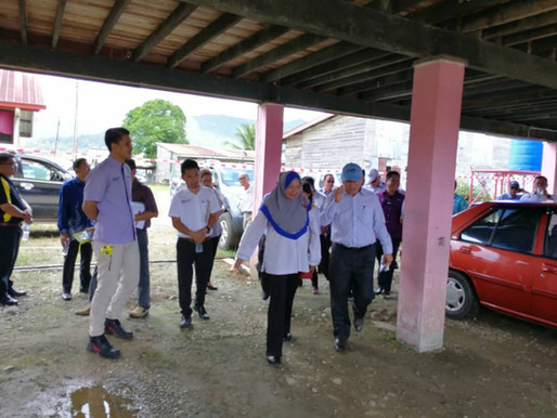 Rombongan Lawatan JPN Sabah Ke SK Pekan Telupid Mengenai Struktur Sekolah Yang Terjejas