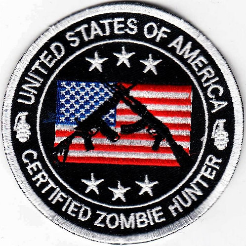 Certified Zombie Hunter Iron-on Patch