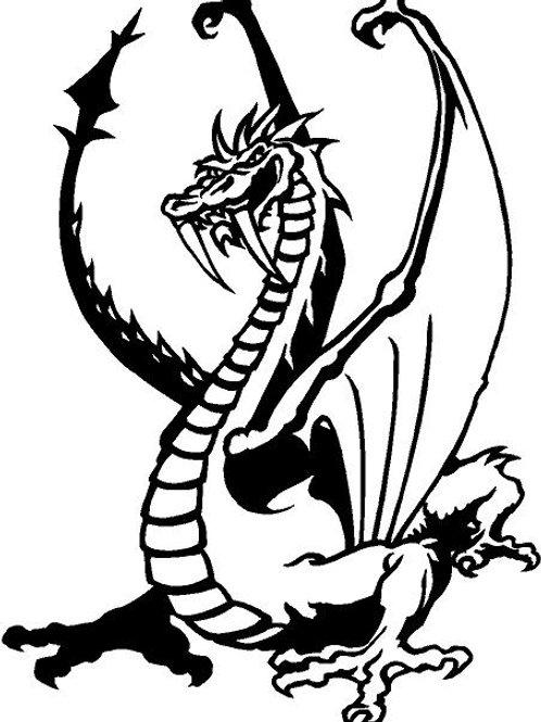 "Dragon Car Window Decal: White 6.4"" x 4.6"""