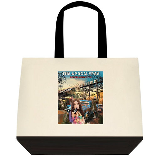 "Jillybean in The Apocalypse Two-Tone Cotton Tote Bag: 18"" x 15"" x 5"""