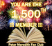My Facebook Fan Club Hit 1,500 Members!