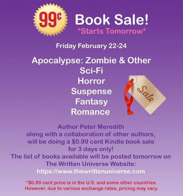 $0.99 cent Sale on Kindle Books!