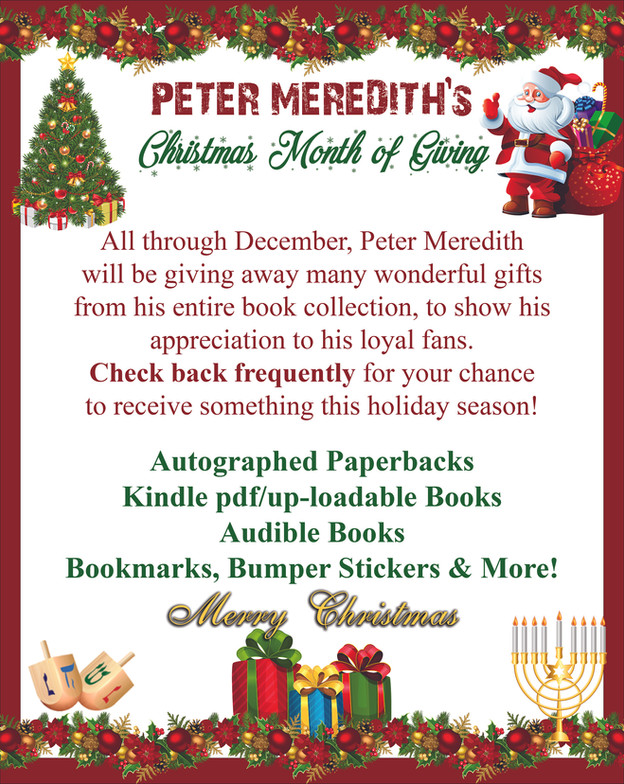 Peter's Christmas Month of Gift Giving on Facebook!