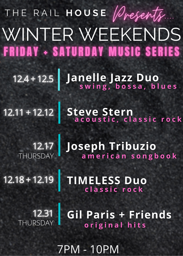 Winter Weekends Music Line Up!