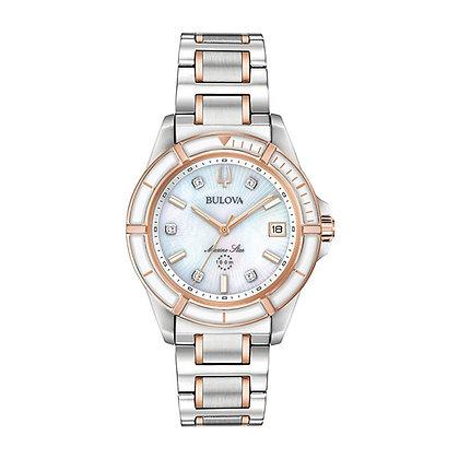 Bulova Women's Marine Star Quartz Diamond Watch 98P187