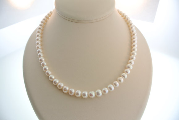 """20"""" Pearl Strand, 18k Yellow Gold Clasp"""