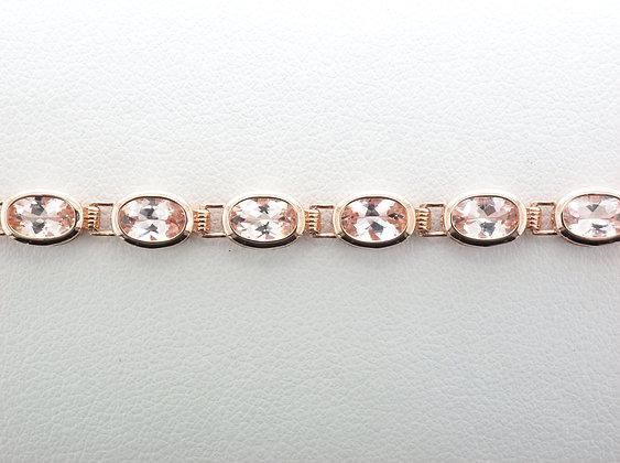 Morganite Tennis Bracelet, 14K Rose Gold