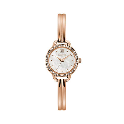 Caravelle Women's Crystal Accent Bangle Watch 44L247