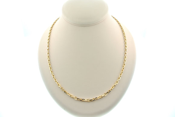 """21.75"""" Solid Link Chain, 14k Yellow Gold"""