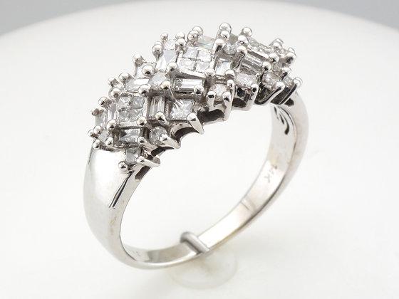 1.00ctw Diamond Fashion Ring, 14k White Gold