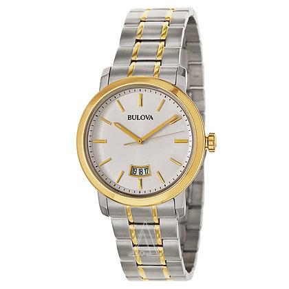 Bulova Men's Two-Tone Watch with Silver-Tone Dial 98B214