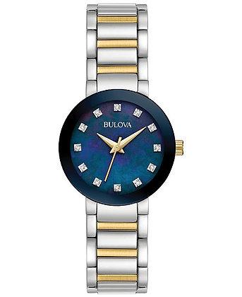 Bulova Futuro Women's Diamond Stainless Steel Watch 98P157