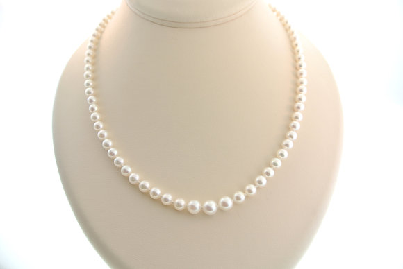 "21"" Pearl Strand, 14k White Gold Clasp"