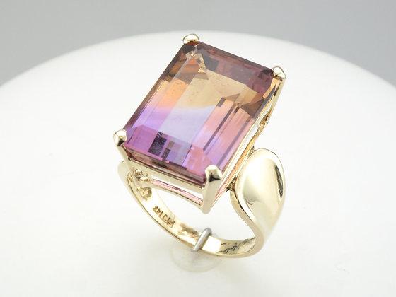 Ametrine Fashion Ring, 14k Yellow Gold