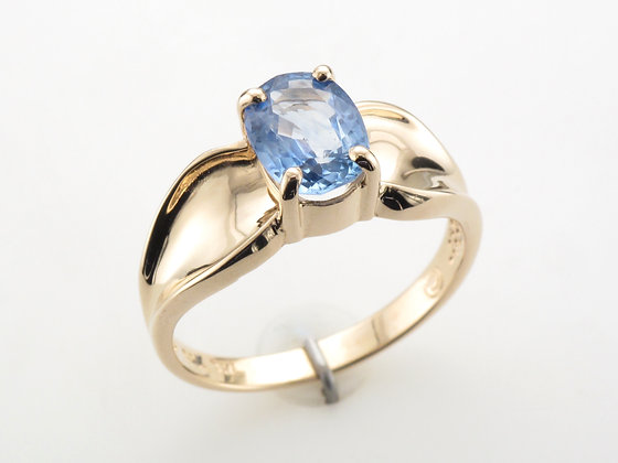 Blue Sapphire Fashion Ring, 14k Yellow Gold