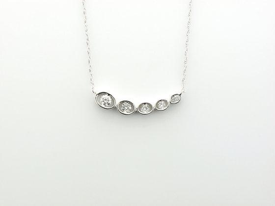0.25ctw Diamond Pendant w. Chain, 14k White Gold