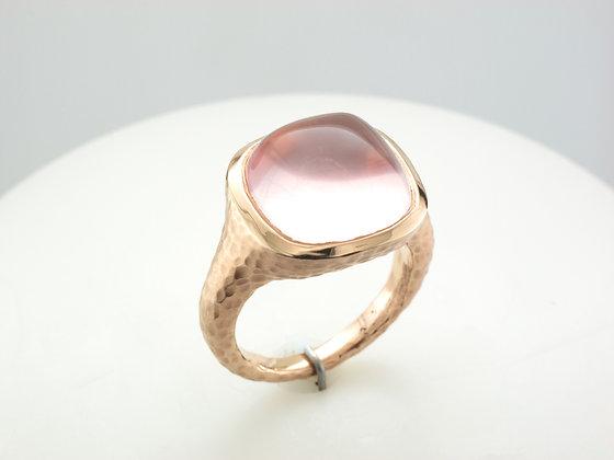 Rose Quartz Ring, 18k Rose Gold