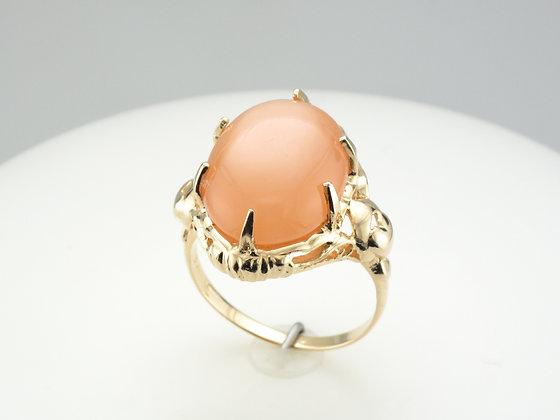 Feldspar Cabochon Fashion Ring, 14k Yellow Gold