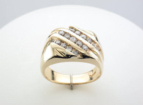 0.75ctw Men's Diamond Ring, 14k Yellow Gold