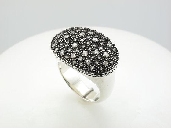 0.50ctw David Yurman Diamond Fashion Ring, Sterling Silver