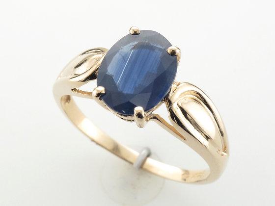 Blue Sapphire Fashion Ring, 14k Yellow Gold