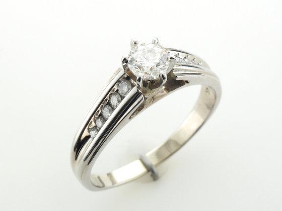 0.68ctw Diamond Engagement Ring, 14 Karat White Gold