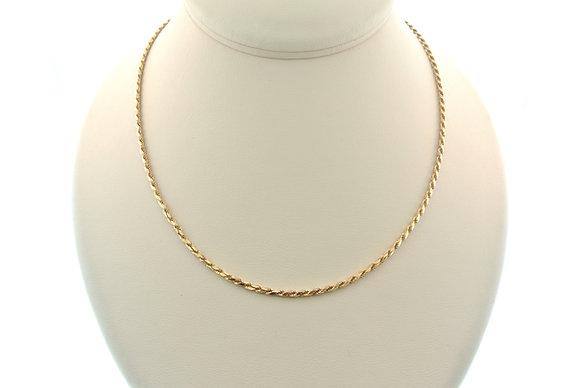 """18"""" Rope Chain, 14k Yellow Gold"""