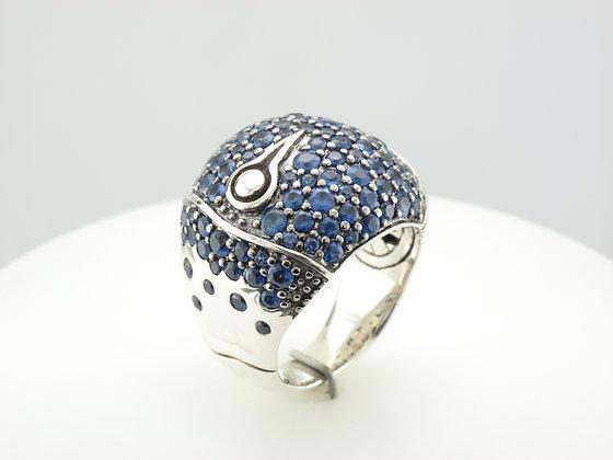 John Hardy Sapphire Fashion Ring, Sterling Silver