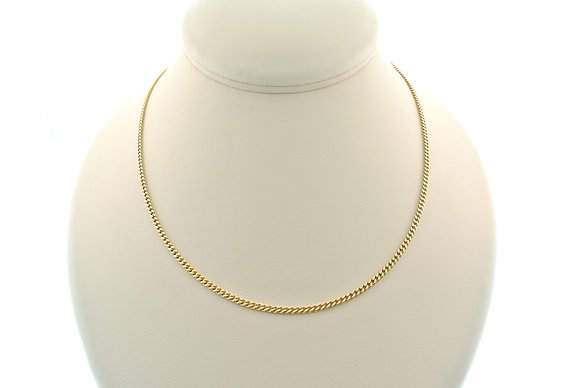 """20"""" Curb Chain, 18k Yellow Gold"""