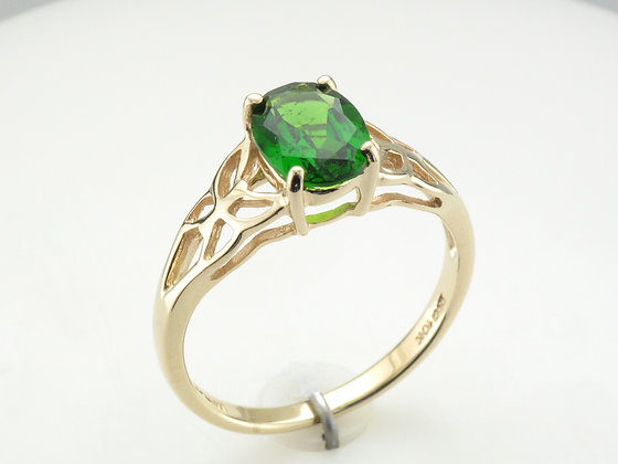 Chrome Diopside Fashion Ring, 10k Yellow Gold