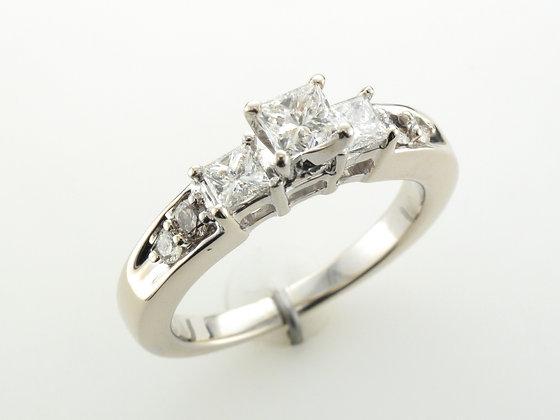 0.85ctw Diamond Engagement Ring, 14 Karat White Gold