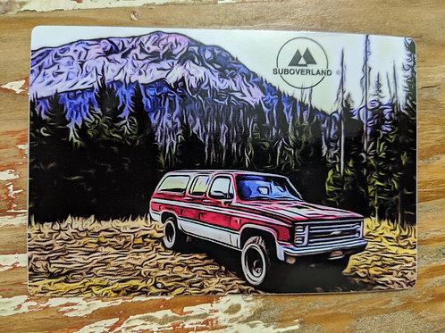 1986 SUBOVERLAND Vinyl Sticker